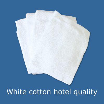 Washclothes 100% white cotton hotel quality