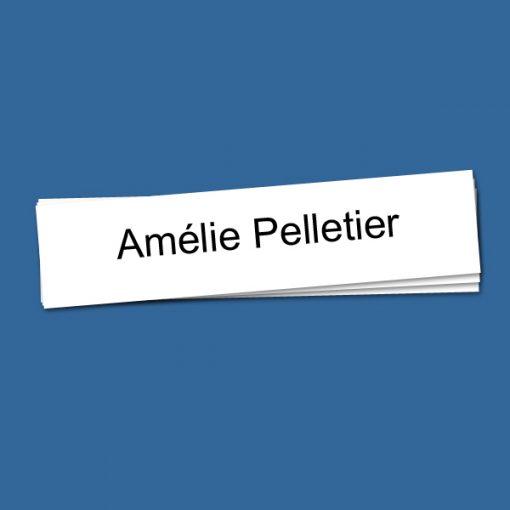 Étiquettes adhésives pour noms