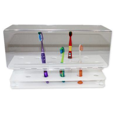 Porte brosses à dents en acrylique
