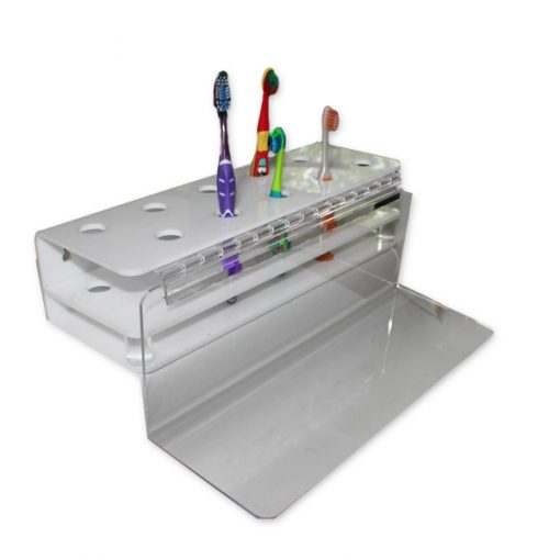 Detachable acrylic toothbrush holder