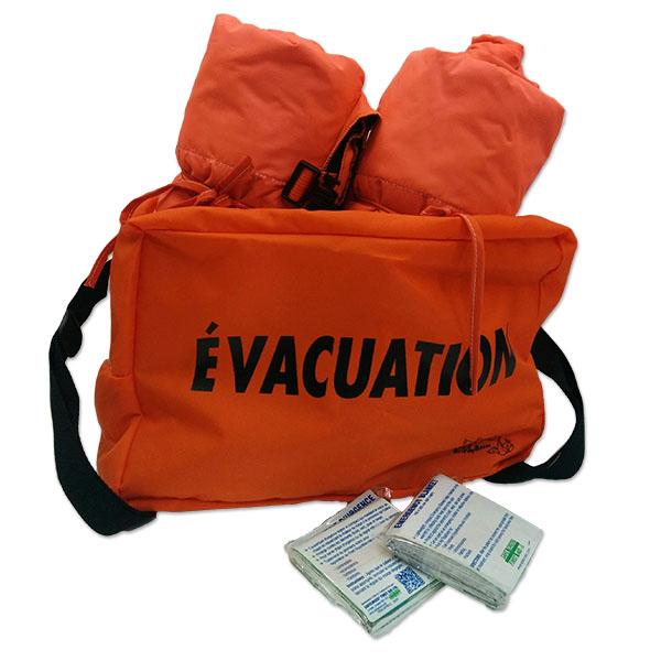 Sacs d vacuation incluant couvertures biggy boom - Sac d evacuation ...