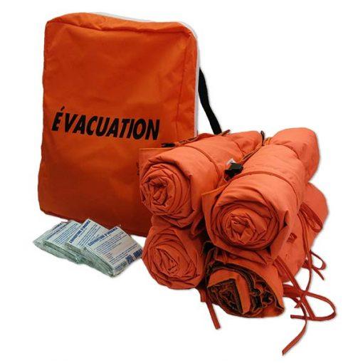 Sacs d'évacuation (incluant couvertures)