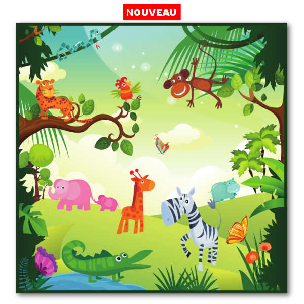 "Tapis de jeux ""Jungle"""