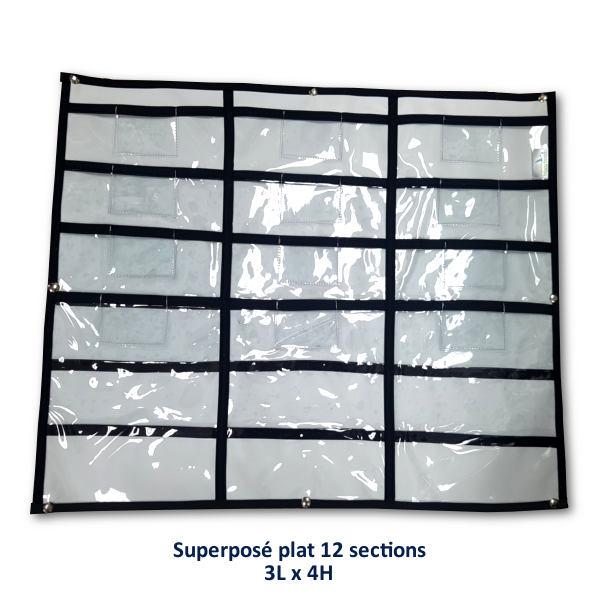 Rangement superposé plat 12 sections
